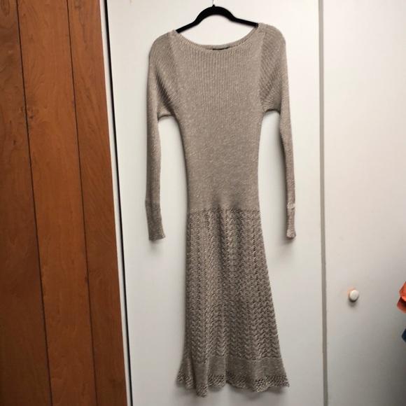 Lauren Ralph Lauren Dresses & Skirts - Ralph Lauren Gold Metallic Sweater Dress